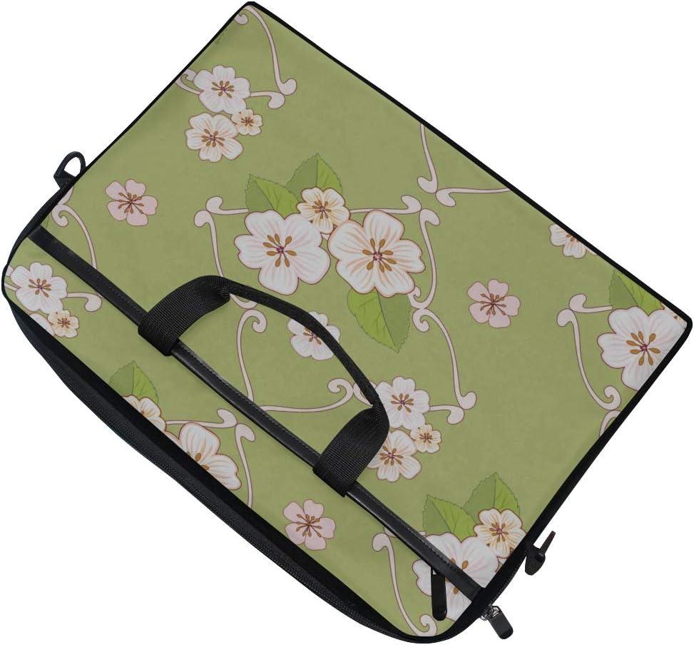 Briefcase Messenger Shoulder Bag for Men Women College Students Business People Off Laptop Bag Spring Flowers Cherry Tree 15-15.4 Inch Laptop Case