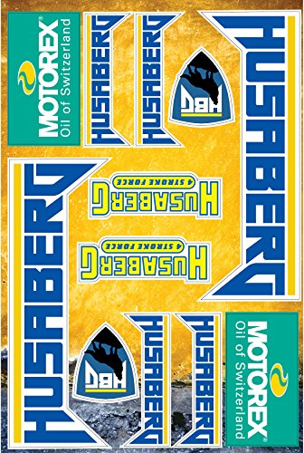 Husaberg Stickers Decals 30x20cm vinyl with extra protection on top