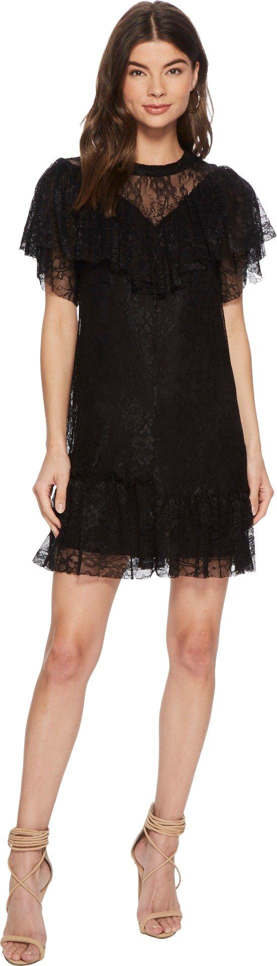 kensie Women's Fine Stretch Dress KS3K8176 Black Medium