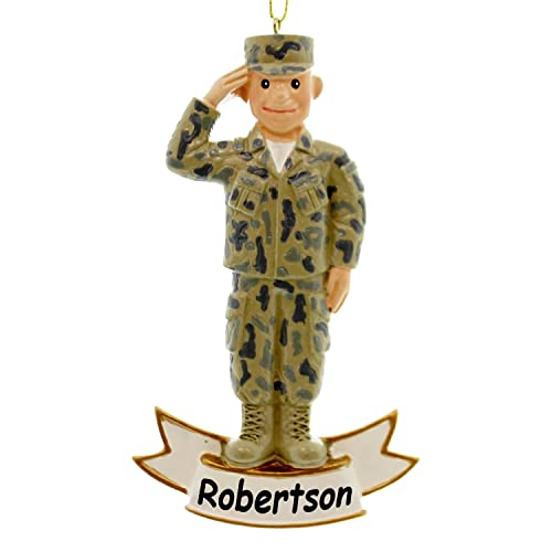 Kurt Adler Personalized Officially Licensed U.S. Army Soldier statue