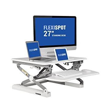 Amazoncom FlexiSpot 27 wide Stand Up Desk with wider keybaord