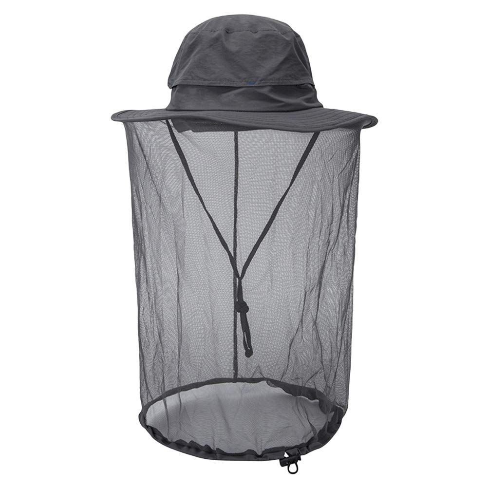 Schimer 1 Pcs Anti Mosquito Net Hat Outdoor Fishing Mesh Hats Head Face Protector Travel Camping Cap