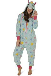 d142e6ecb1 Totally Pink Women s Plush Warm Cozy Character Adult Onesies for Women One-Piece  Novelty Pajamas
