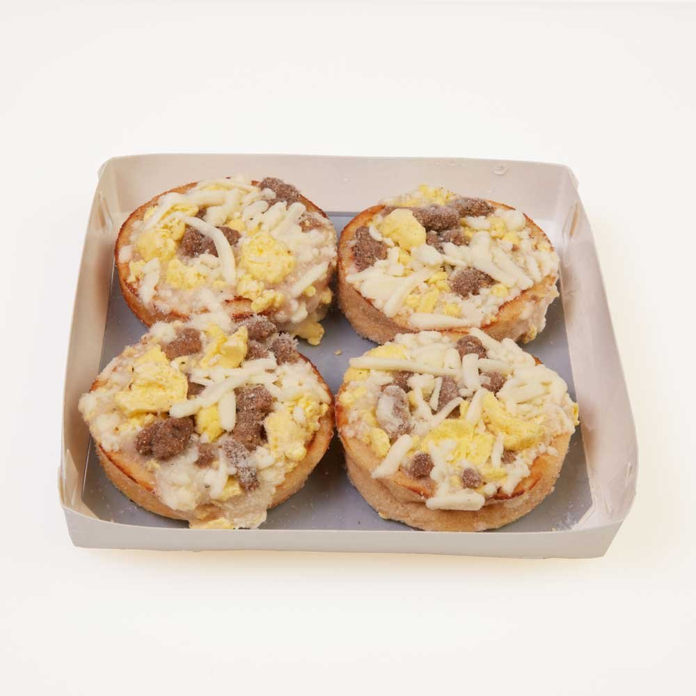 Beacon Street Cafe Pizza Pepperoni Handheld Sausage Egg and Cheese - 144 per case. by Schwan's