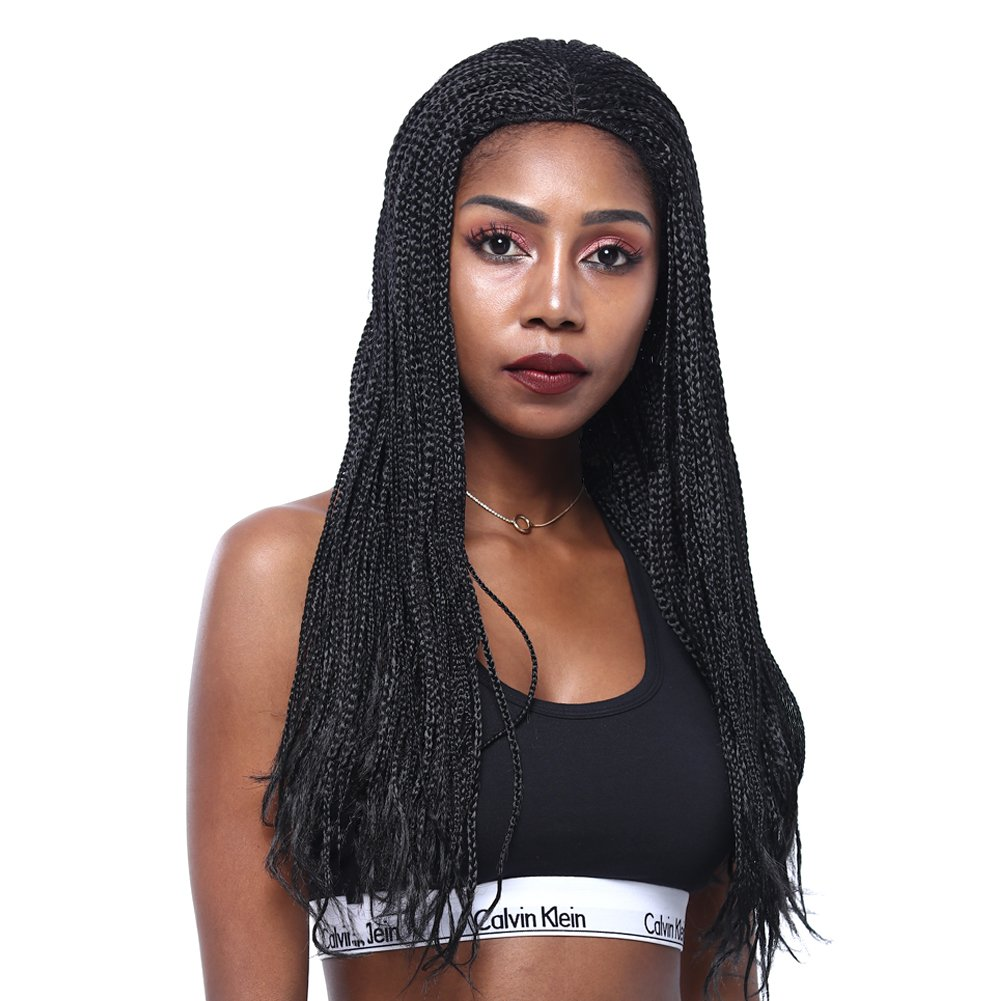 GOTTA Braid Wigs 22'' Box Synthetic Braid Wig Full High Density Long Hair Replacement Box Braid Wig for Black Women, Natural Black