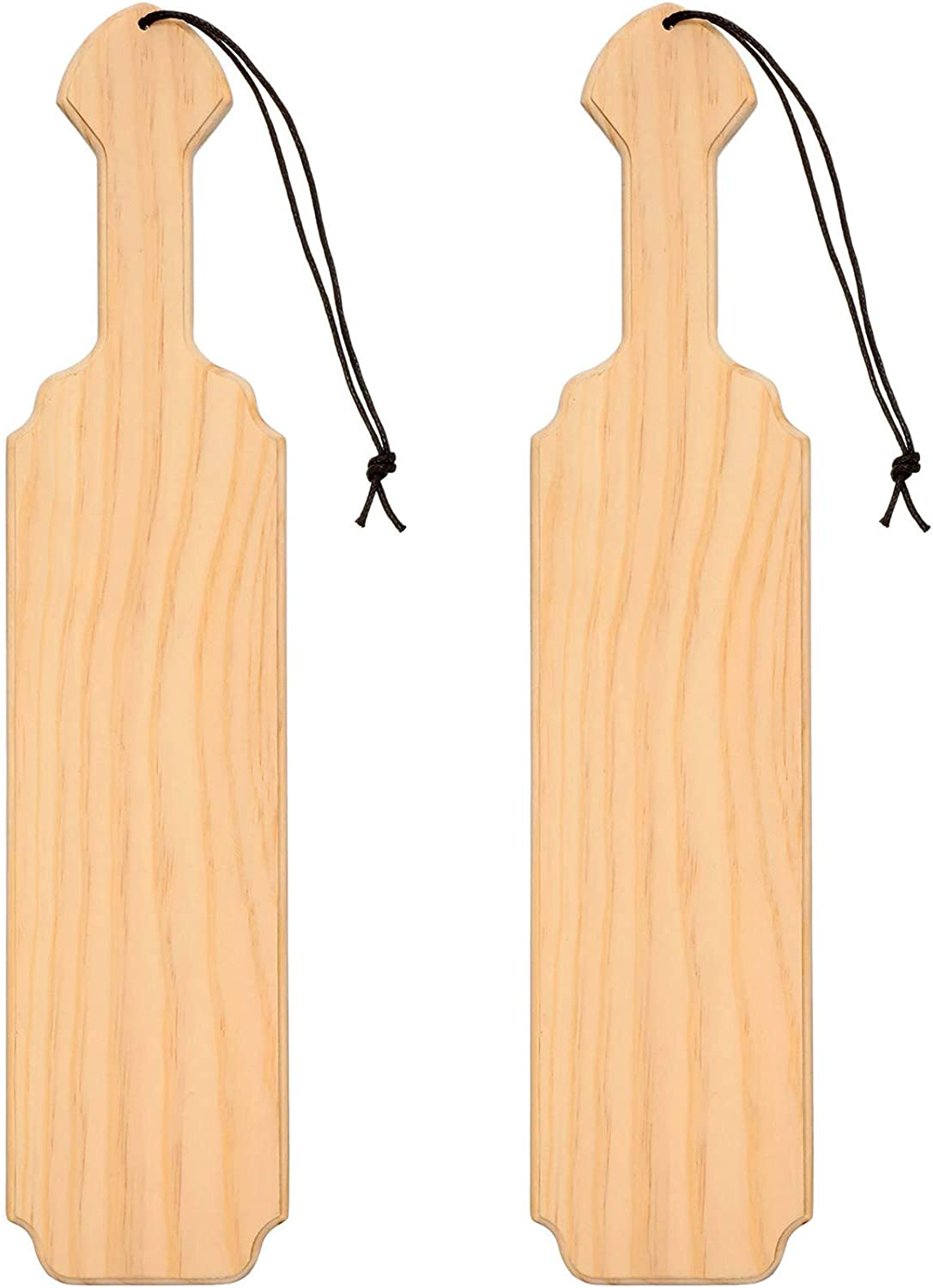 15 Inch Unfinished Paddle Wood Board Made of Solid Pine Wood Paddle for Arts Crafts Sorority Fraternity Home Decoration, 2 Pieces
