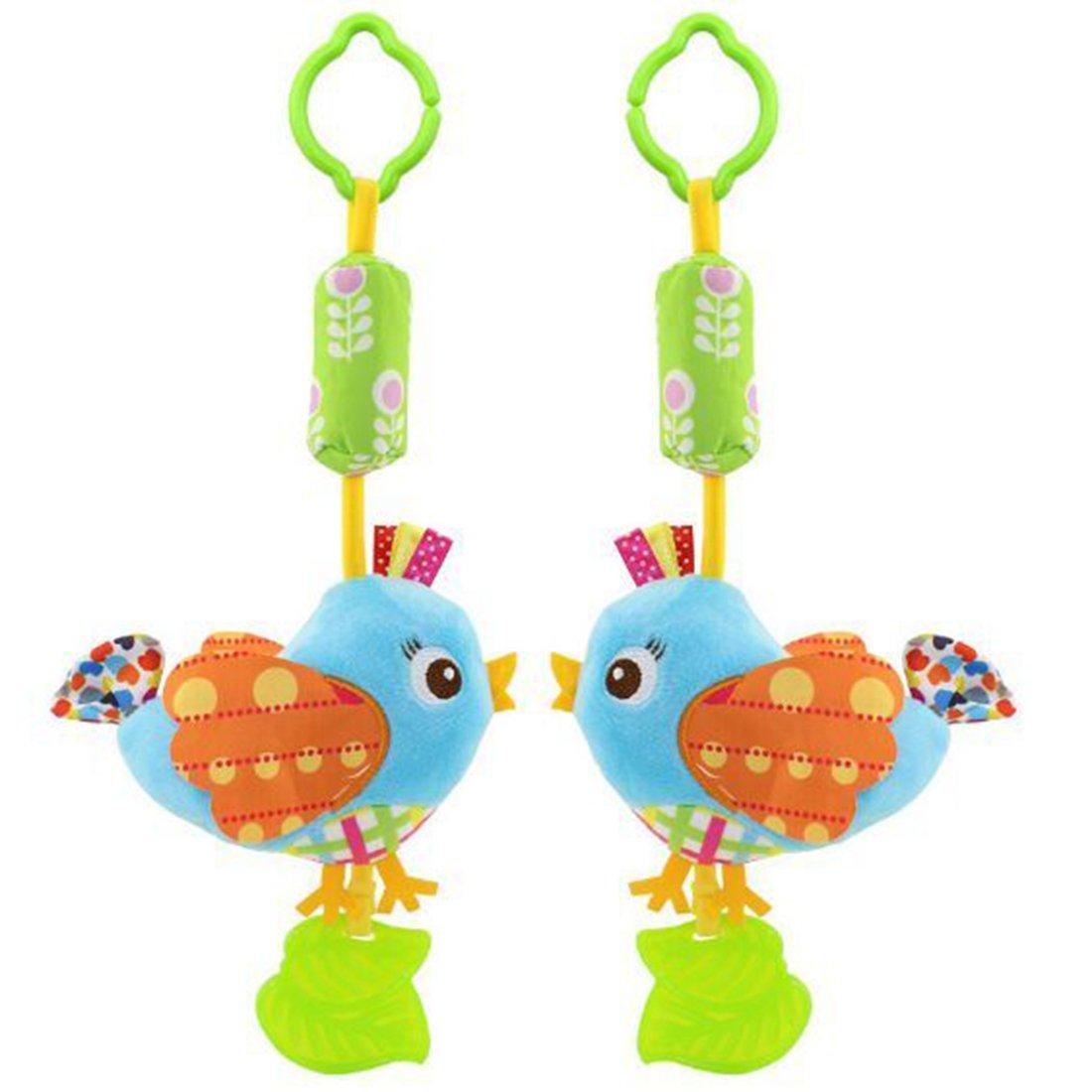 HENGSONG Baby Spielzeug Kinderwagenkette Hängende Stoff Spielzeug für Bettchen, Kindersitz und Kinderwagen (Eule) mei_mei9 ME4075