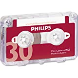Philips Mini-cassette pour dictaphone 30 min 15 min par face Ref 0005 Pack de 10