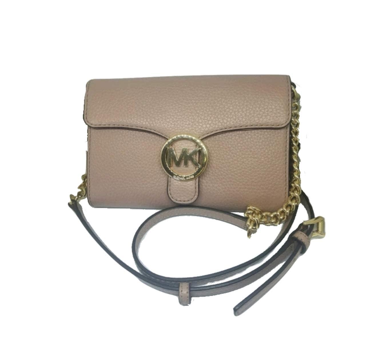 e6ac2d96b98b Michael Kors Vanna Large Leather Phone Crossbody Bag, Fawn: Handbags:  Amazon.com
