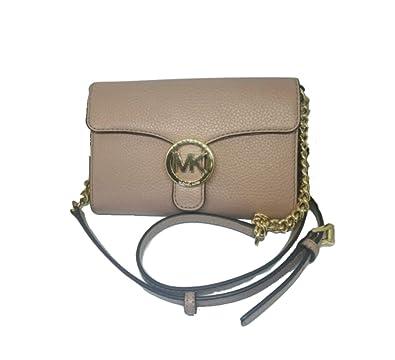 c94e013e2f25 Michael Kors Vanna Large Leather Phone Crossbody Bag, Fawn: Handbags:  Amazon.com