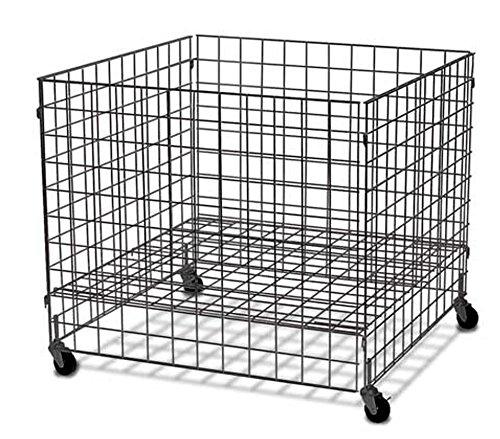 Gridwall Dump Bin Wheels 37'' x 37'' x 34''H Grid Display Store Fixture Black NEW by Unknown