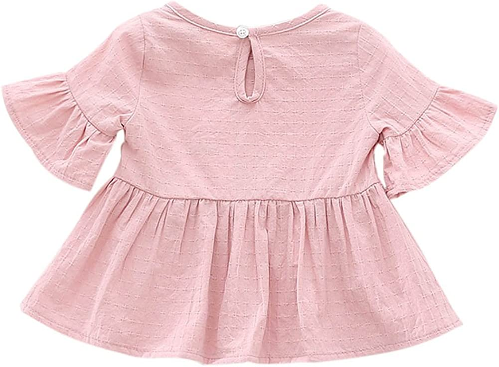 Baby Girls Kids Fishing Heartbeat Printed Long Sleeve 100/% Cotton Infants Tee Shirt