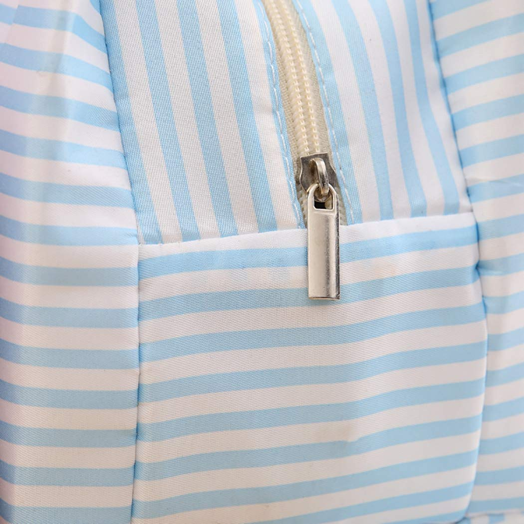 1PCS Insulated Thermal Cooler Lunch Bag Pouch Picnic Storage Box (Blue)