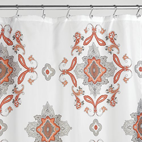 mDesign Insignia Paisley Fabric Curtain product image