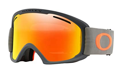 a2872b0b8b Image Unavailable. Image not available for. Color  Oakley O Frame XL 2.0  Snow Goggles Dark Brush Orange with Fire Iridium and Persimmon Lens
