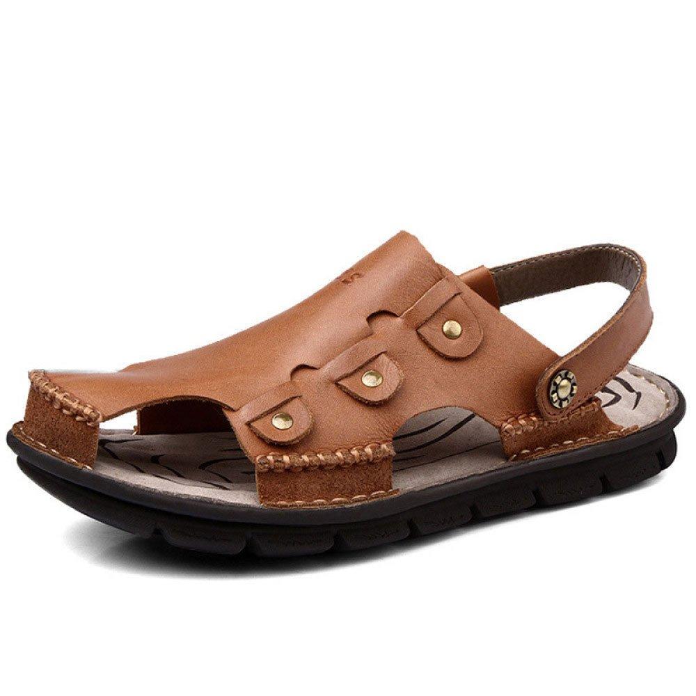Sandalias Hechas A Mano Sandalias Baotou Zapatos De Playa Transpirable Al Aire Libre 43 EU Brown