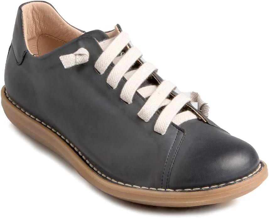 Chacal Shoes– Zapatillas para Hombre de Piel – Color Marrón o Azul – con cordón elástico para un Calzado fácil – Tallas EU 40 a EU 46