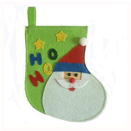 Erduo Patrón de Santa Calcetines de Navidad Calcetines Bolsa de Regalo de Dulces Adornos de Árbol