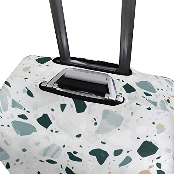 Fine-Grained Marble Pattern Traveler Lightweight Rotating Luggage Cover Can Carry With You Can Expand Travel Bag Trolley Rolling Luggage Cover