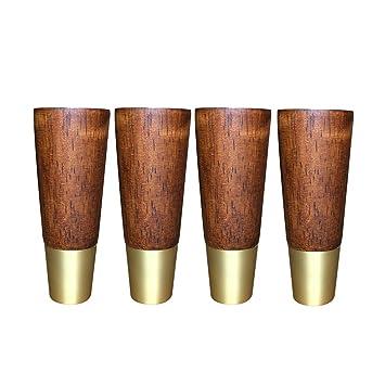 Amazon.com: Patas de muebles, patas de madera maciza, patas ...