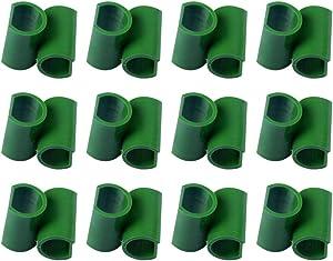 Cabilock 50pcs Green Adjustable Garden Trellis Plant Connector Flower Rattan Plastic Buckle Clip 11mm