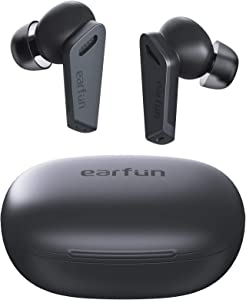 EarFun Air Pro Wireless Earbuds Hybrid Active Noise Cancelling, Bluetooth 5.0 Earbuds with 6 Mics ENC, Stereo Deep Bass, 32H Play Time with USB-C Charge, in-Ear Detection Headphones IPX5 Waterproof