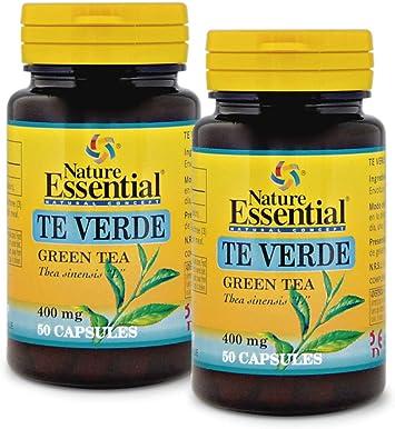 Té verde 400 mg. 50 capsulas (Pack 2 unid.): Amazon.es: Salud y ...