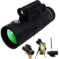 12x50 Monocular Telescope, Starscope Monoculars with Smartphone Holder & Tripod for Adults Men, Include Infrared Scope…