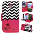 ZTE Allstar LTE, Customerfirst Wallet Case, Wrist Strap Flip Folio [Kickstand Feature] Pu Leather Wallet Case With Card Slot For ZTE Stratos Z818 (Zebra Pink)