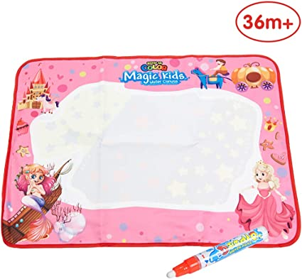 Water Drawing Writing Painting Mat Board Magic Pen Doodle Mat Aqua Kids Toys