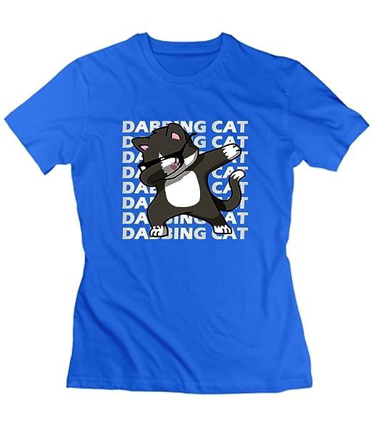 07f6ea1ec676 Amazon.com  xueshankeji Hip Hop Dabbing Cat Tee Shirts for Womens ...