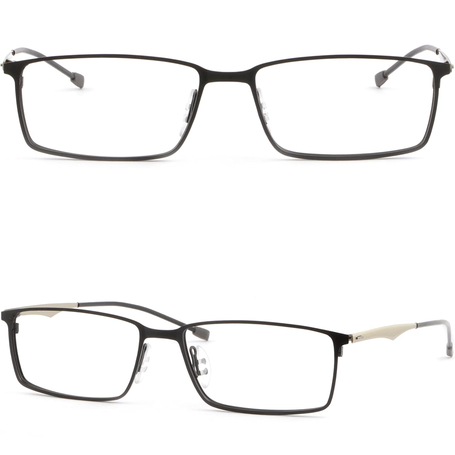 Full Rim Light Pure Titanium Frames Rectangular Prescription Glasses Black