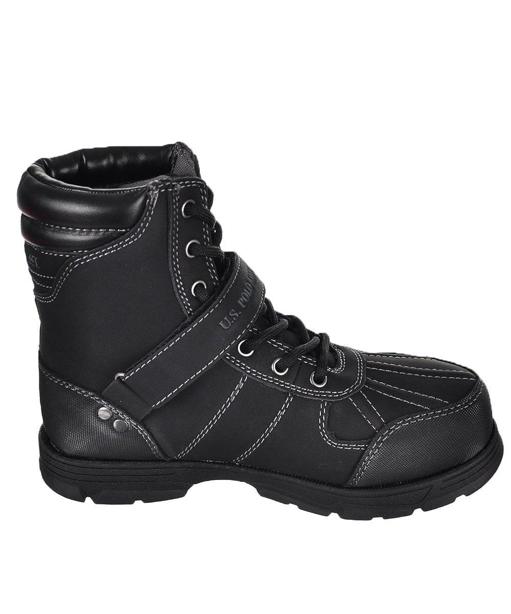 Big Kid U.S ,Black,4.5 Polo Assn Kids Connor 6 Boot