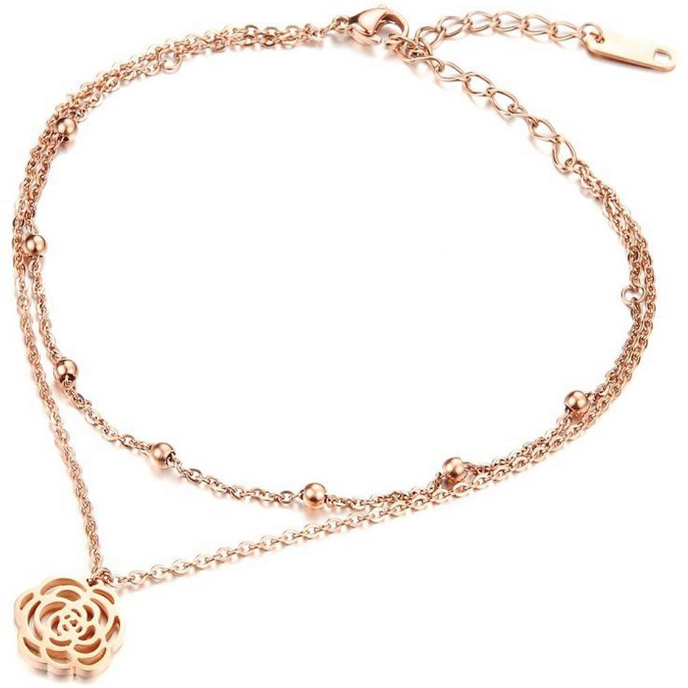 Women Fashion Rose Gold Ankle Bracelet Little Fish Link Anklets by Joyfulshine US8SX160902001
