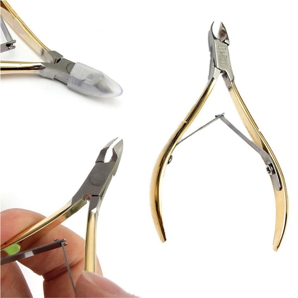 Gemini_mall® Stainless Steel Cuticle Nipper Dead Skin Cutter Remover Nail Art Clipper Manicure Tool