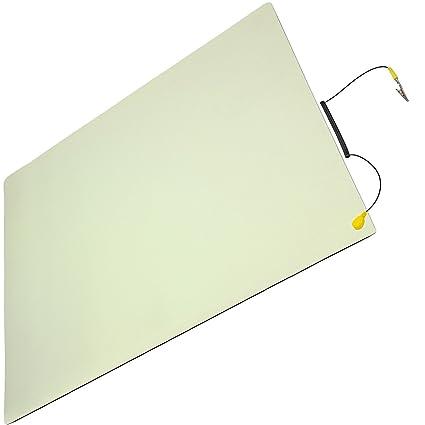 Minadax ESD Antistatik-Matte 50 cm x 60 cm – Professionelle Antistatische Arbeitsmatte - PVC-Matte mit Erdungskabel - Qualitä