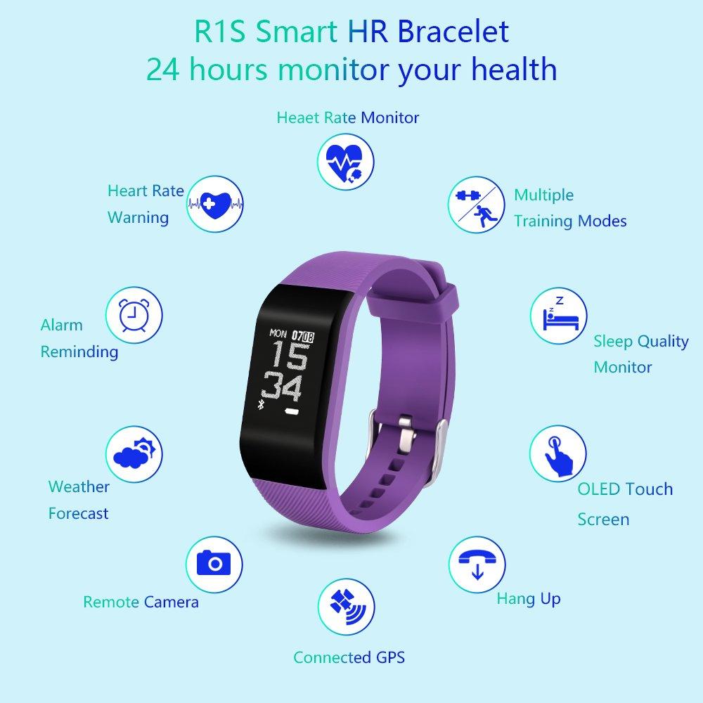 Fitness Tracker, haotop Fitness reloj: banda inteligente con monitor ...