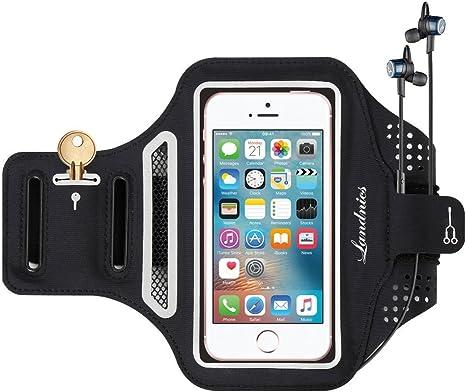 Brazalete Deportivo de Teléfono Celular para iPhone X, 8 Plus, 7 Plus, 6 Hasta 5.5 Pulgada, Impermeable Armband Velcro Ajustable con Llaves y Tarjetas Porta para Gimnasio, Ciclismo, Senderismo: Amazon.es: Deportes y aire libre