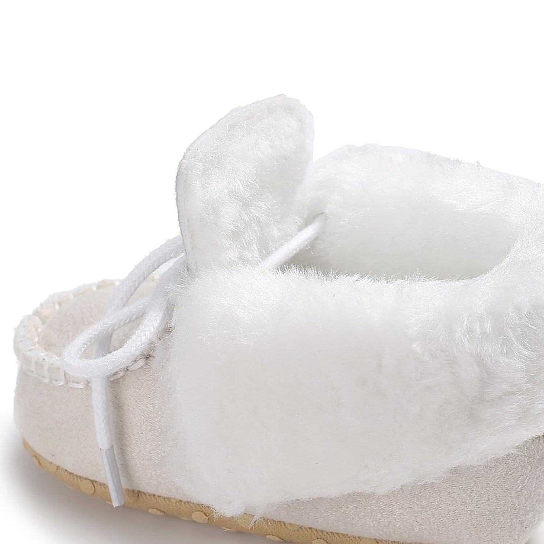 GEMVIE Zapatos Patucos De Bebé Unisex Primeros Pasos Antideslizante Invierno Blanco Longuitud de pie 11cm OKM0mns