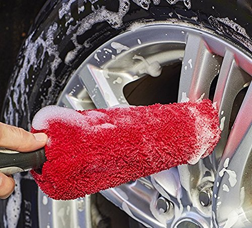 Viking Red Black Premium Metal Free Wheel Rim Brush