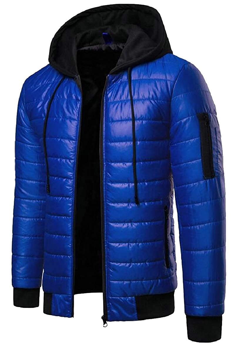 Tymhgt Mens Hoodie Lightweight Quilted Jacket Zip Up Puffer Outerwear