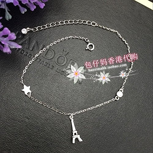 Shopping Package Shopping in Hong Kong Aberdeen mother Zheng Sheng silver 925 sterling silver Foot Chain anklet ankle chain extend chain Tower Stars single diamond Foot Chain anklet Zheng Sheng (Sterling Silver Tower)