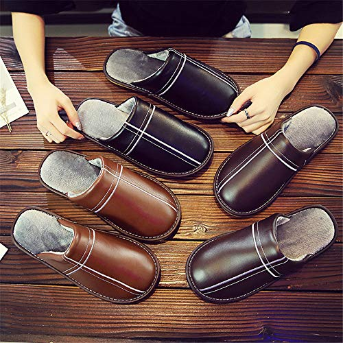 Warm Men's amp; Outdoor onleather Shoeshouse Night Floor Indoor Slip Wall And Slippers Brown Cotton Women's Comfortable Shoes wX4Tq1