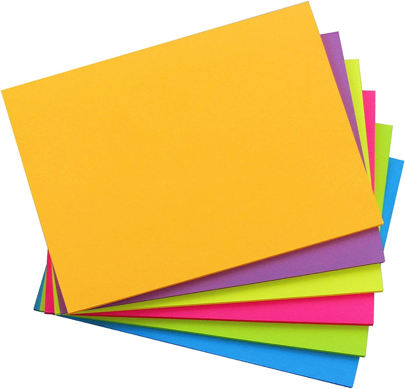 Sticky Notes 8x6, 6 Color Bright Colorful Sticky Pad, 6 Pads/Pack, 45 Sheets/Pad, Self-Sticky Note Pads : Office Products