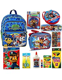 Paw Patrol Backpack with School Supply Set