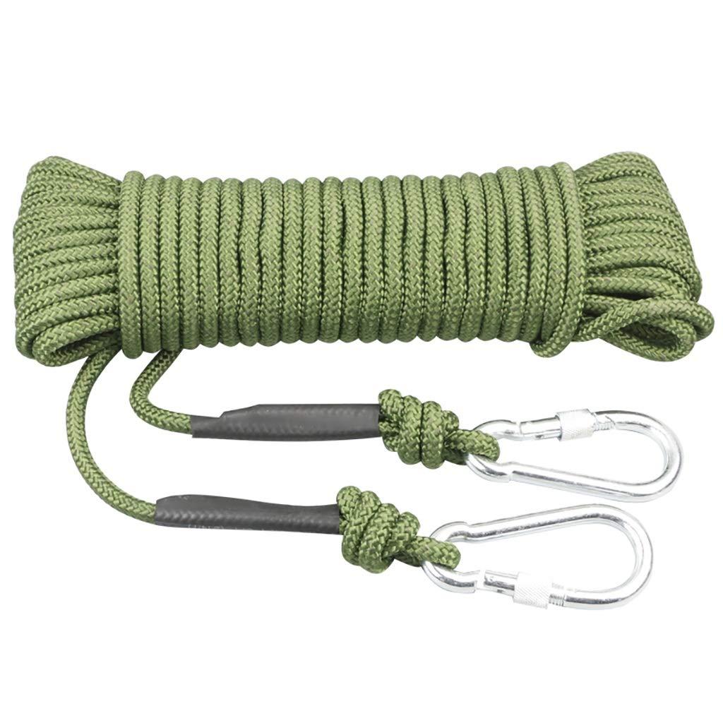 GLJJQMY 家庭用エスケープロープ自助ロープ芯線径8mm長さ5100m ロープ (Size : 100m) 100m  B07SQQW1PD