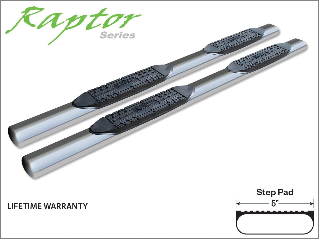 Raptor Series 0803-0180 5 inch Oval Stainless Side Bar Steps For 99-16 Ford F-250//F-350 Super Duty Crew Cab 00-06 Excursion