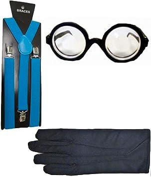 Islander Fashions Turquoise Braces Guantes Negros y Gafas Gafas ...