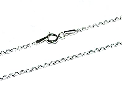 MARKYLIS - GENUINE 925 STERLING SILVER TRACE / ANCHOR JEWELLERY NECK CHAIN NECKLACE - 1mm Guage - Various Lengths R2qee