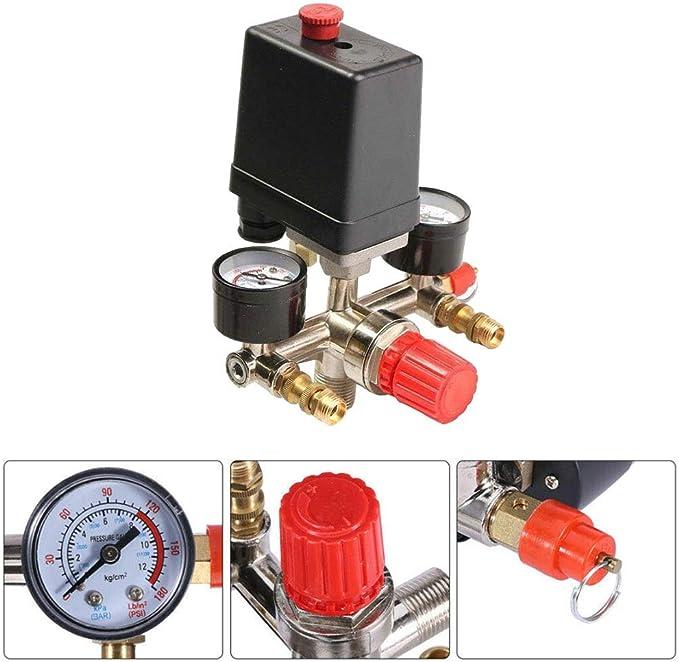 Mdurian 90 120psi Druckschalter Der Luftkompressor Pumpe Kompressor Druckwächter Regelventil Kompressorschalter Hochleistungs Druckregler Regler Größe Manometer Auto